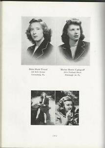 1945 PENNSYLVANIA COLLEGE FOR WOMEN YEARBOOK THE PENNSYLVANIAN PITTSBURGH PA $39.00