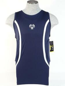Under Armour MPZ Dark Blue Padded Compression Basketball Tank Mens NWT