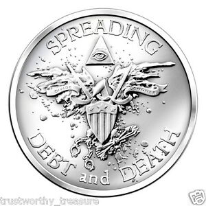 Tube of (20) 1 troy oz Silver WARBIRD rounds SILVER BULLET SILVER SHIELD .999 BU