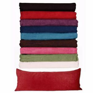 Body Pillow COVER Case Soft Micro Suede New 20quot;x 54quot; 8 Colors AVAILABLE $11.99
