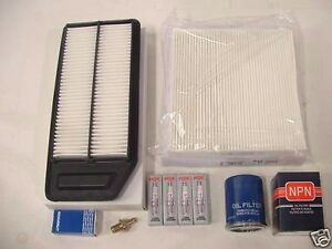 Tune Up Kit fits Honda Accord 2003 2007 4Cyl .Air cabin oil filters PCV NGK Plug $99.00