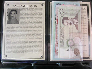 Saddam Hussein Dictator Of Iraq Set Of 2 Coins And 7 Banknotes From The Ruler $38.99