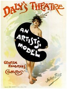 5032.Dalis Theatre.An Artist's Model.George Edwarde.POSTER.decor Home Office art