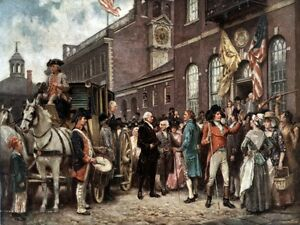 9160.George washington meets with local people.POSTER.decor Home Office art