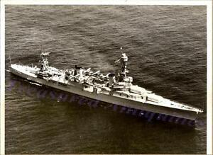 WWII US Navy Northampton Class USS Chicago Houston Cruiser Aerial View Photo