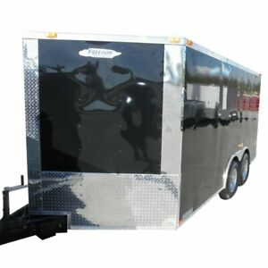 Enclosed Trailer 8.5#x27;x14#x27; Black Custom Car Equipment ATV