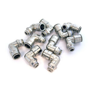 Lot Of 10 Camozzi Swivel Male Elbow Connector P6520-08-04