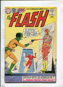 THE FLASH #119 (5.0)THE MIRROR MASTERS MAGIC BULLET! 1961
