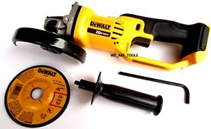 New Dewalt DCG412 20V Cordless Battery Angle Grinder 4 1/2