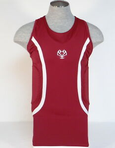 Under Armour MPZ Maroon & White Padded Compression Basketball Tank Mens NWT