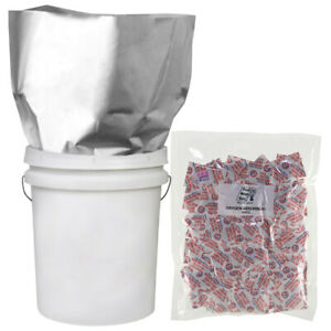 25 1 GALLON 10x16 Mylar Bags 25 300cc Oxygen Absorbers Long Term Food Storage