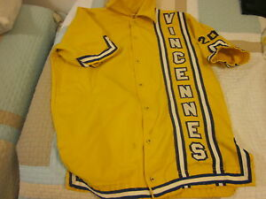 Vintage Vincennes University Basketball Game Used Warm Up Jacket
