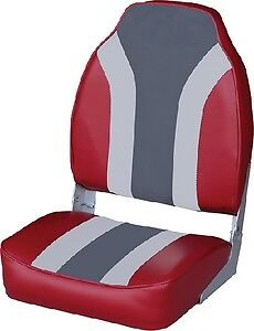 New High Back Fold Down Fishing Seats wise Seating 8wd1062ls 933 Red Gray Charco
