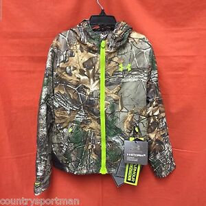 UNDER ARMOUR Storm Scent Control Barrier Jacket Boy's (YXL) #1259276-946 RTXVel