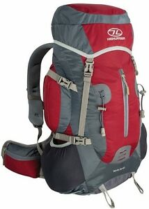 Red Rocky 35 + 5 Litre  Rucksack Back Pack with Rain Cover - Camping Hiking Walk