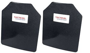 Tactical Scorpion AR500 Level 3 III Body Armor Plates Pair Curved 10 x 12