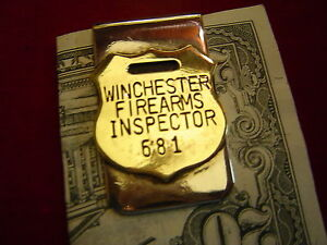 Money Clip: Winchester Firearms Inspector tag on Nickle $15.99