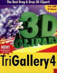 TriGallery 4 v2.0 w Manual PC CD collection tools construction 3D clipart image