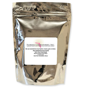 100% Food Grade Natural Diatomaceous Earth 5 Lbs. POUNDS FASTEST DELIVERY