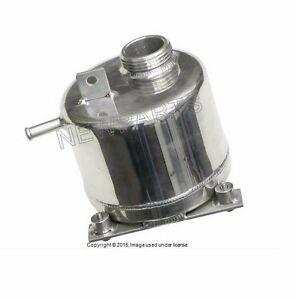 For Mini Coolant Expansion Tank Cooper S r53 Polished Aluminum w Plastic Cap