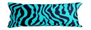 1 Piece Zebra Turquoise Black Body Pillow COVER Case Soft New 20quot;x 54quot; $9.99