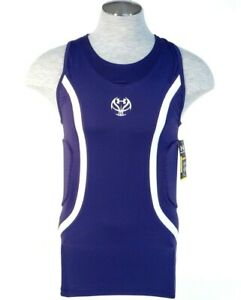 Under Armour MPZ Purple Padded Compression Basketball Tank Men's NWT