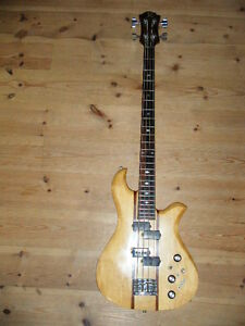B.C.RICH EAGEL BASS 1976-77 MAPLE Through Neck NATURAL WHC Ship From JAPAN