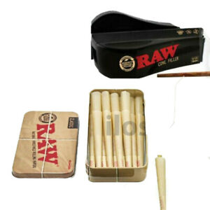 1 14 RAW Rolling Paper Mega Pack 32 Cones + RAW Filler Shooter