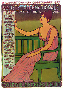 2082 Galerie Georges Petit Art Decor POSTER.Graphics to decorate home office.