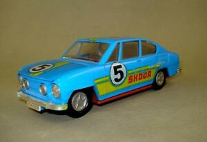 plastic skoda s110r coupe blue racer east german