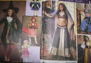 Pattern sewing girls 7 14 WITCH BO PEEP RIDING HOOD or BELLY DANCER GYPSY GENIE $5.89