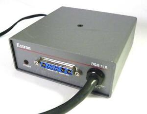 EXTRON RGB 112 UNIVERSAL DB 13W3 COMPUTER-VIDEO INTERFACE