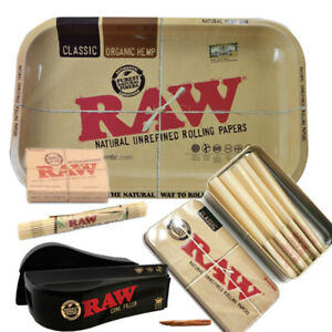 RAW papers KING SIZE CONES BUNDLE TrayFillerScoopLighterCaddystonemat