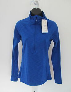 NWT $54 UNDER ARMOUR cold gear fitted UA RUN BLUE LS shirt L warm dry running
