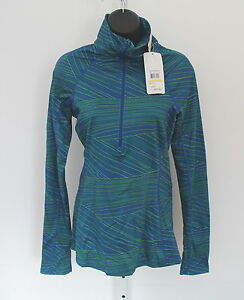NWT $64 UNDER ARMOUR cold gear fitted UA RUN BLUE pattern LS shirt M warm dry