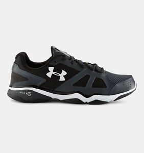 Men's UNDER ARMOUR MICRO G STRIVE V 1252360 BlackGray Athletic Running Shoes