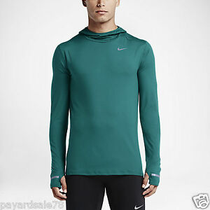 MEN'S SIZE XL RUNNING SHIRT HOODIE ELEMENT LONG SLEEVE 683638 309 GREEN SOFT $80