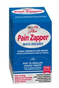 500 Pain Zapper Terminator Pills Tablets First Aid Emergency Survival Refill