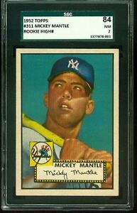 1952 Topps MICKEY MANTLE Rookie New York Yankees SGC 7 CENTERED