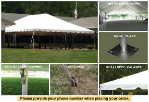 30'x45' Celina Tent Classic Series Frame Tent Complete for Wedding Outdoor Event