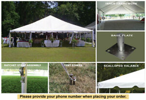 40 x 100 Classic Frame White Tent for Sale Wedding Outdoor Event Party Tent