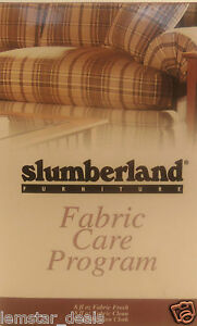 Slumberland Furniture Fabric Care Program Kit by Stainsafe sealed Box