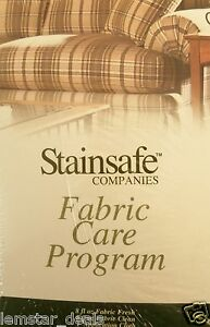 Furniture Fabric Care Program Kit by Stainsafe New Sealed Box