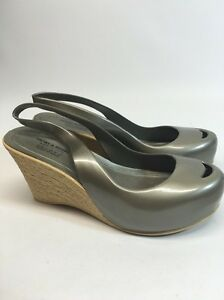 Italian Made Henry amp; Henry By Nuovo Wedge Nickle Patent Shoes Size 37 7