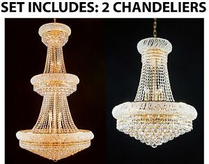 Set of 2 - 1 for Entryway/Foyer and 1 for Dining Room! French Empire Chadelier