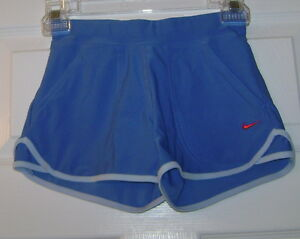 New Nike Girls Fit Dry Shorts Blue 207453-420