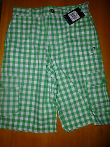 New Nike Golf Men's Golf Sport Pattern Short Gym Green Size 30 Waist NWT