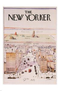 THE NEW YORKER cover poster famous illustration 1976 24X36 rare new VY1 $5.99