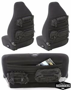 1997-2002 Jeep Wrangler Smittybilt G.E.A.R. MOLLE Front & Rear Seat Covers Black