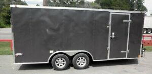 Enclosed Trailer 8.5#x27;x18#x27; Grey Custom Enclosed Car Bike Cargo Hauler